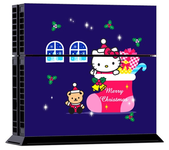 Sony PS4 Skin - Hello Kitty Christmas