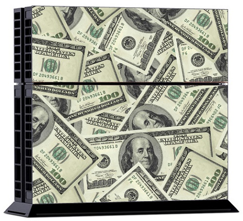 Sony PS4 Skin - US Dollar