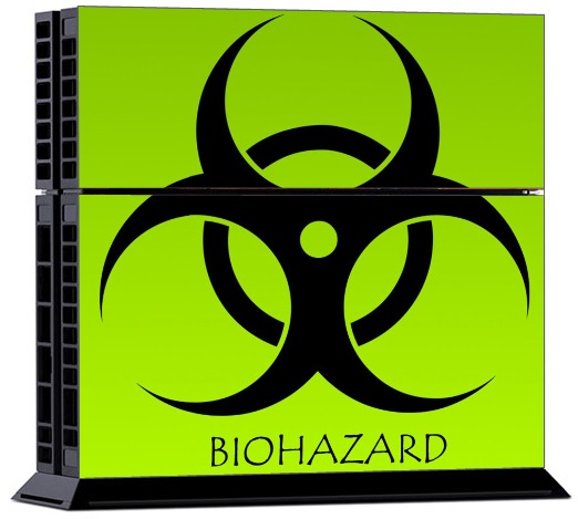 Sony PS4 Skin - Bio Hazard