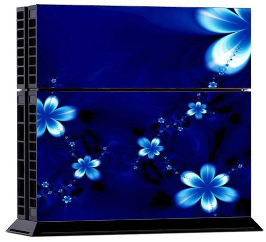 Sony PS4 Skin - Blue Flower