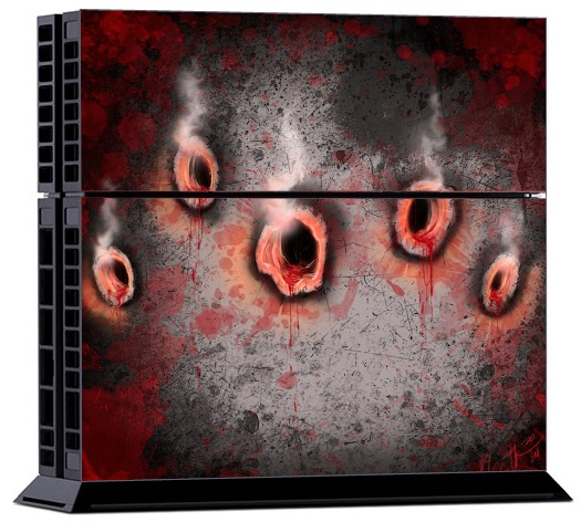 Sony PS4 Skin - Bullet Holes