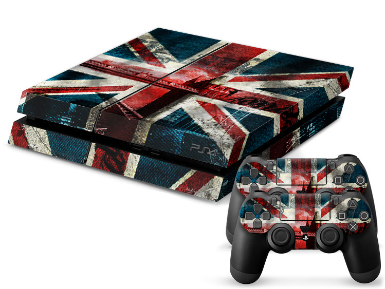 PS4 Skin - Union Jack Denim