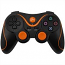 PS3 Doubleshock Bluetooth Wireless Controller Black Orange
