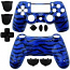 PS4 Controller Shell Dualshock Tiger Stripes Blue