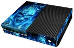 XBox One Skin - Skull of Blue Fire
