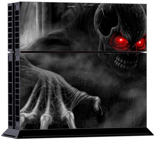 Sony PS4 Skin - Dark Skull