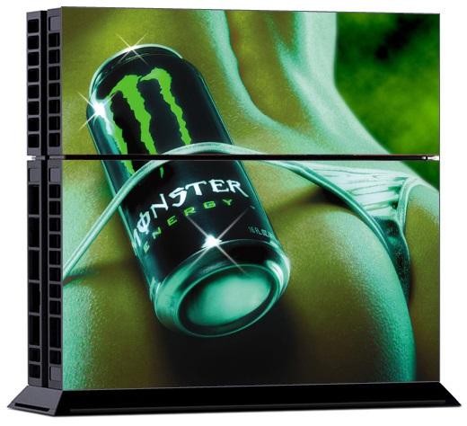 Sony PS4 Skin - Monster Energy