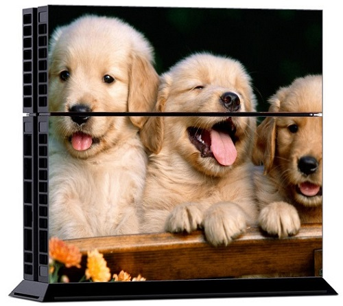 Sony PS4 Skin - Animal Puppies