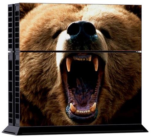 Sony PS4 Skin - Animal Bear