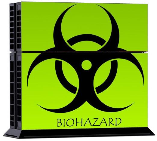 Sony PS4 Skin - Bio Hazard