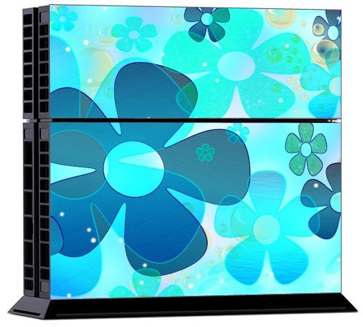Sony PS4 Skin - LightBlue Flower