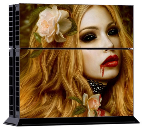 Sony PS4 Skin - Sweet Vampire Girl