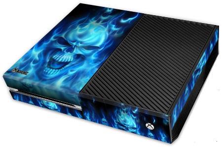 XBox One Skin - Skull of Blue Fire