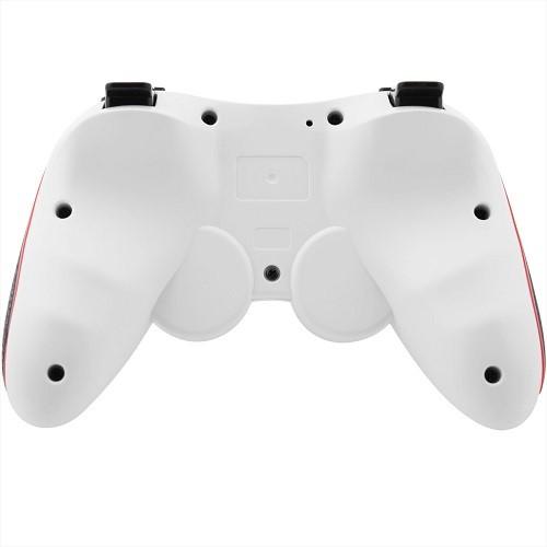 PS3 Doubleshock Bluetooth Wireless Controller White Orange Bottom