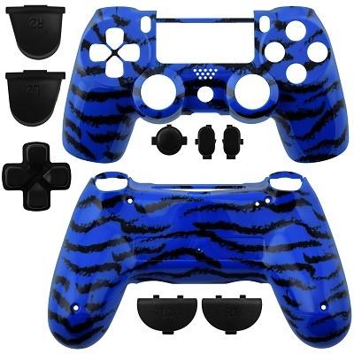 PS4 Controller Shell Dualshock Tiger Stripes Blue