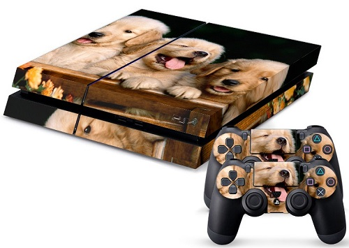 PS4 Skin - Animal Puppies