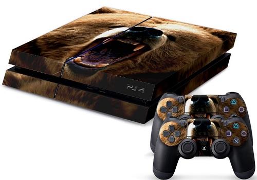 PS4 Skin - Animal Bear
