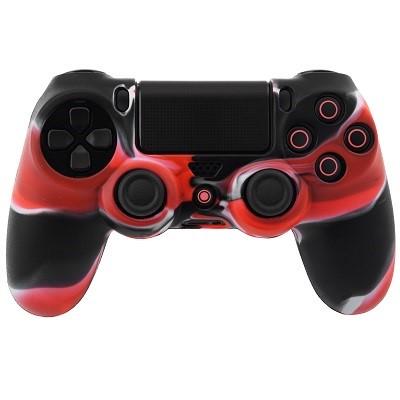 PS4 Dualshock Silicone Case Multicolor Red Black