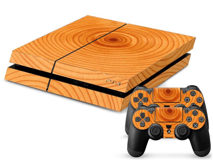 PS4 Skin - Wood Light