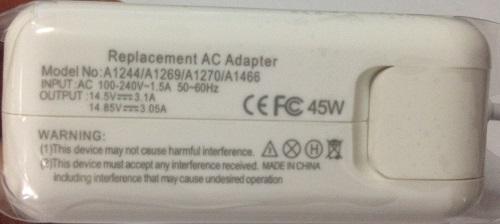 Mac Book 45W Magsafe 2 Replacement Adapter US Plug