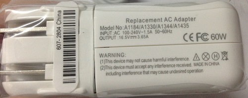 Mac Book 60W Magsafe 1 Replacement Adapter US Plug