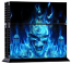 PS4 Skin - Skull Blue Fire