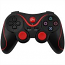 PS3 Doubleshock Bluetooth Wireless Controller Black Red