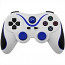 PS3 Doubleshock Bluetooth Wireless Controller White Blue