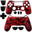 PS4 Controller Shell Dualshock Skull Red