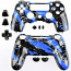 PS4 Controller Shell Dualshock Camouflage Blue Black